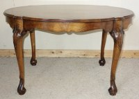 Walnut Tall Coffee Table / Centre Table - Antiques Atlas