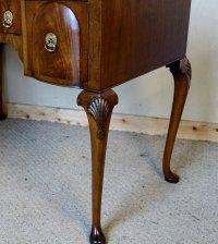 Walnut & Mahogany Lowboy Writing Table - Antiques Atlas