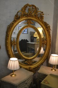 Antiques Atlas - Decorative Oval Large Mirror