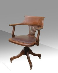 Antique Swivel Captains Desk Chair