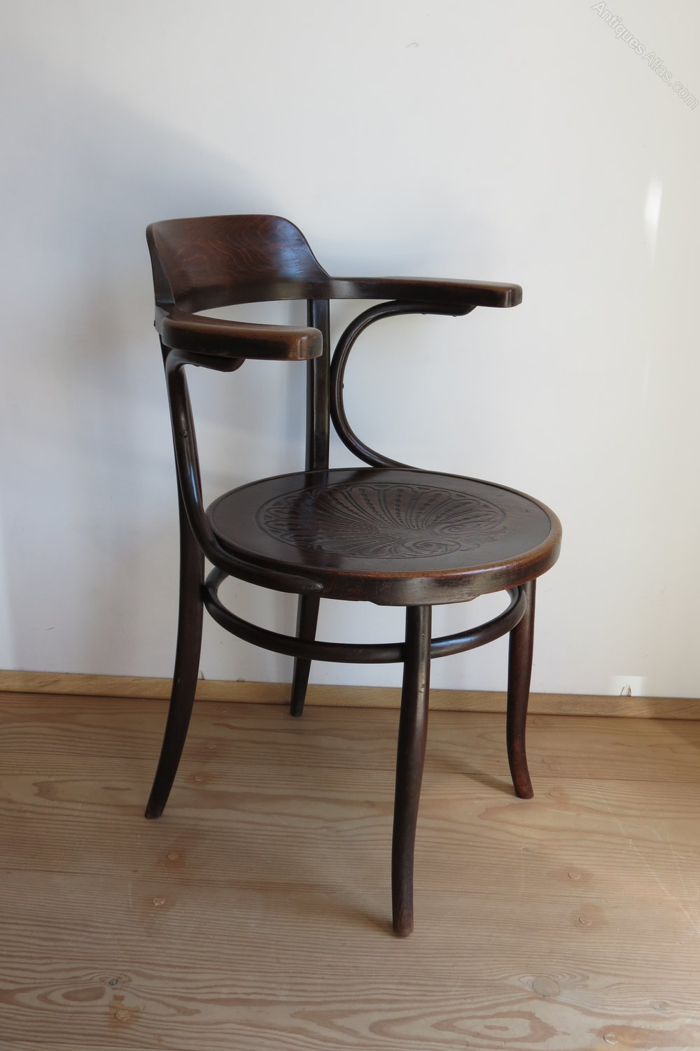 Bentwood Chair By J And J Kohn Austria 1900  Antiques Atlas