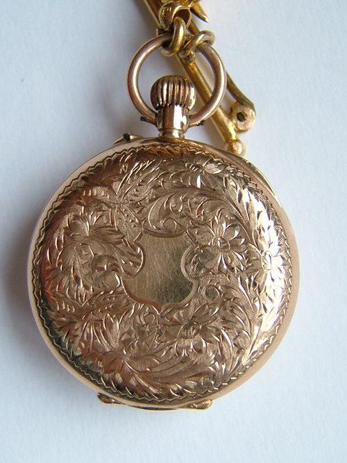 Antiques Atlas  9CT Gold Fob Pocket Watch  Albertina