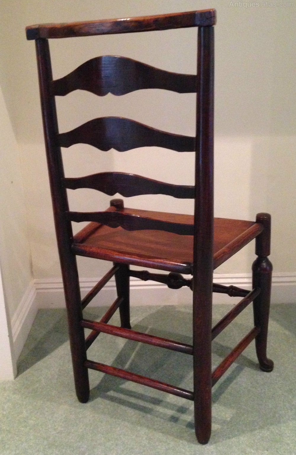 Rare 18th C Ladderback Chair  Antiques Atlas