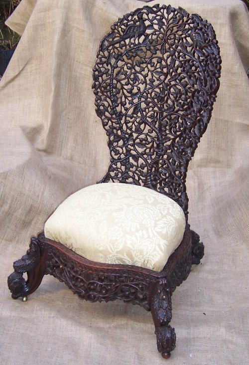 mid century chairs uk girl high chair carved anglo indian - antiques atlas