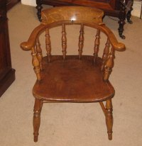 Late Victorian Captains Chair. - Antiques Atlas