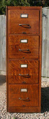 vintage oak filing cabinet  Roselawnlutheran