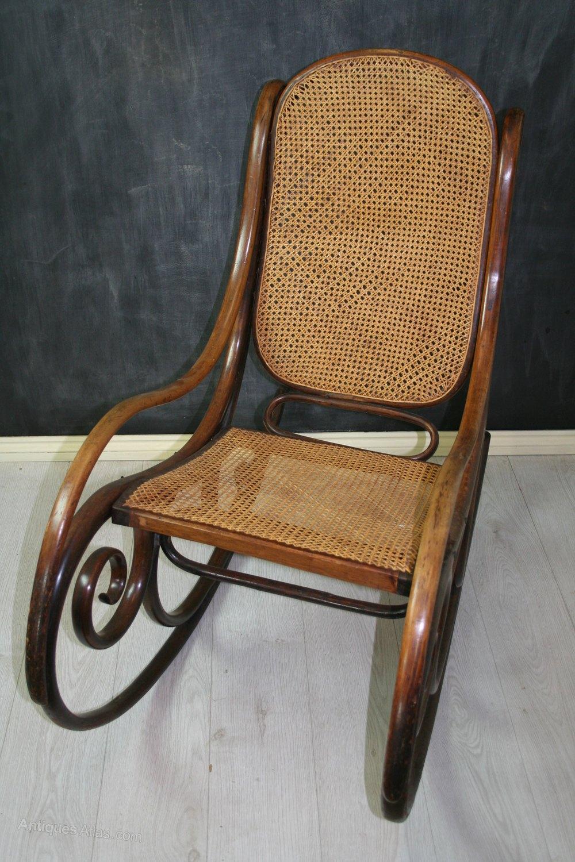 Rare Thonet Bentwood Rocking Chair No 1  Antiques Atlas