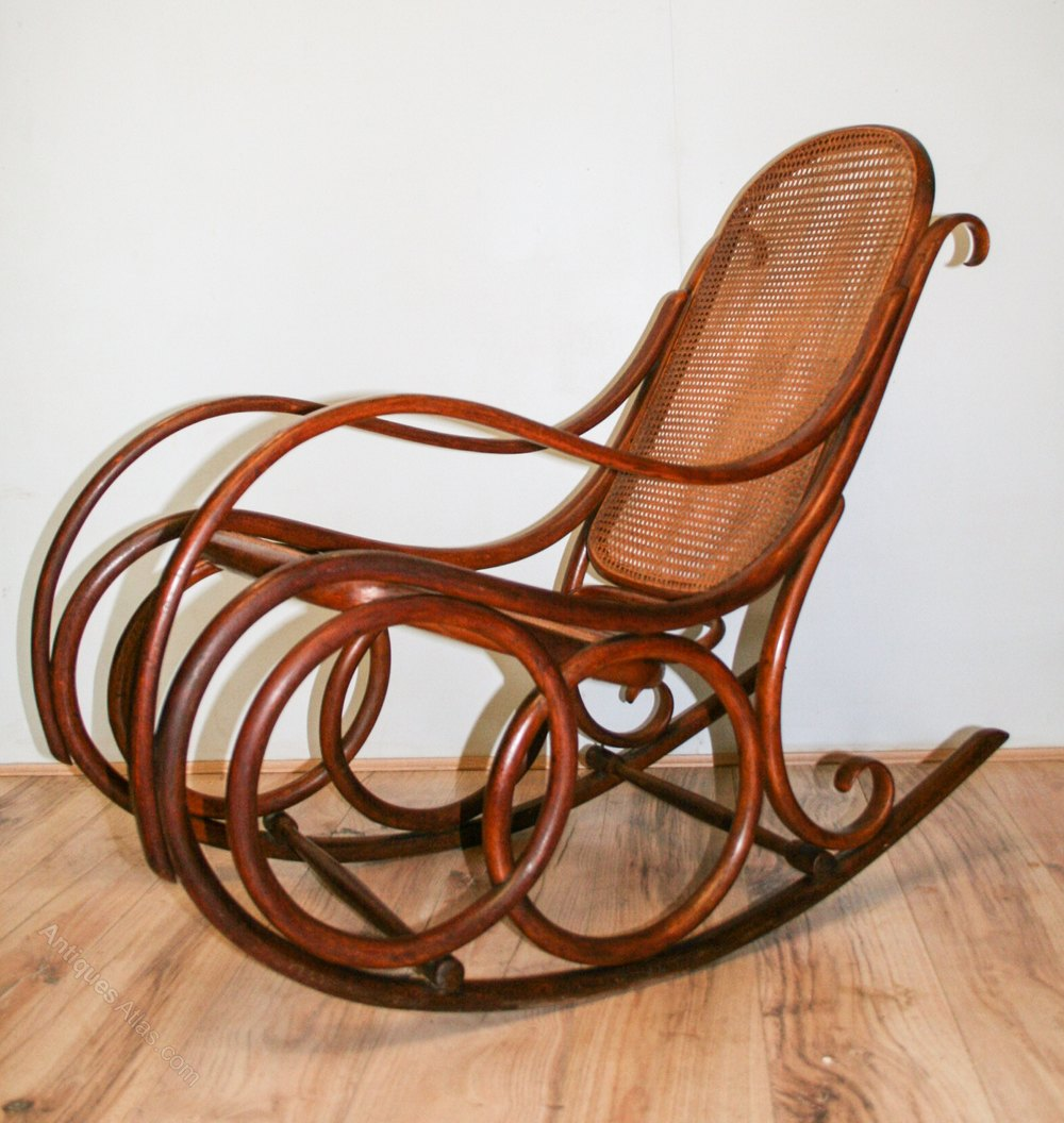 Thonet Bentwood Rocking Chair No4  Antiques Atlas