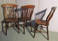 6 Set Victorian Slat Back Farmhouse Kitchen Chairs ...
