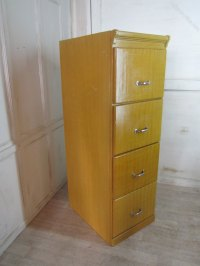 A Large Art Deco 4 Drawer Oak Filing Cabinet, - Antiques Atlas
