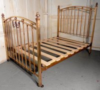 A Lovely Victorian Brass Double Bed - Antiques Atlas