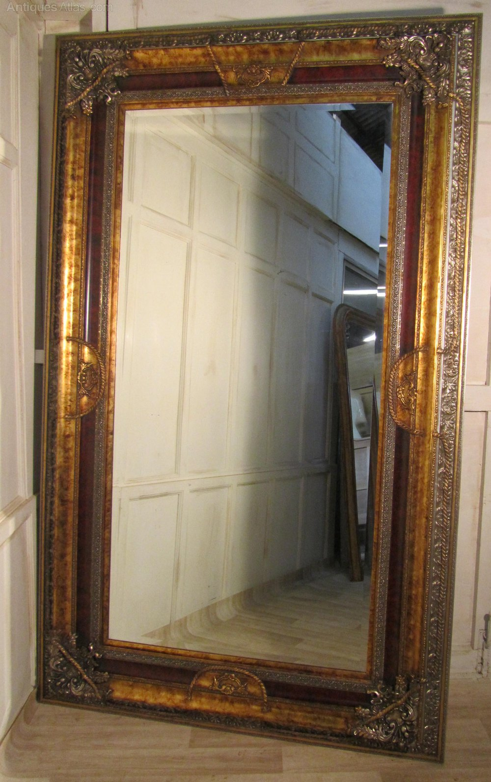 Antiques Atlas  A Very Large 8ft Decorative Wall Mirror