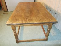 French Walnut Farmhouse Kitchen Table - Antiques Atlas