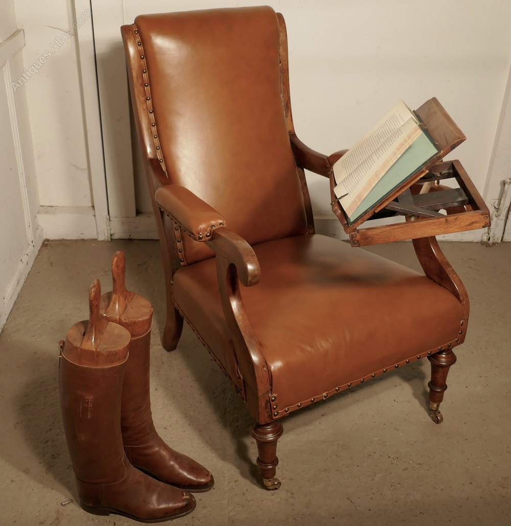 reading chairs uk bedroom vanity chair with back gentleman's library stand - antiques atlas