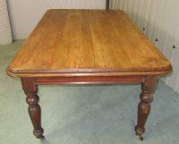 Good Large Victorian Pine Farmhouse Kitchen Table ...