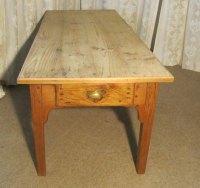 Large French Farmhouse Kitchen Pine Table - Antiques Atlas