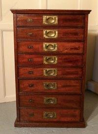 Mahogany 8 Drawer Filing Cabinet - Antiques Atlas