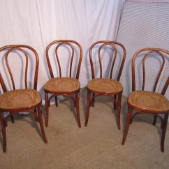French Bentwood Cafe Chairs La Z Boy Martin Big And Tall Executive Office Chair Black Set Of 4 Bistro Or - Antiques Atlas