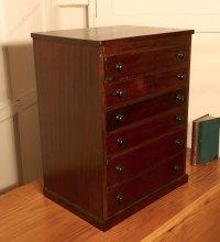 Small Mahogany Filing Cabinet, Collectors Cabinet ...