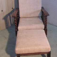 High Chair Cushions Hanging Toronto Victorian Barley Twist Oak Reclining Or Bed - Antiques Atlas