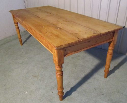 pine kitchen table best place to buy island victorian rustic 3 plank antiques atlas
