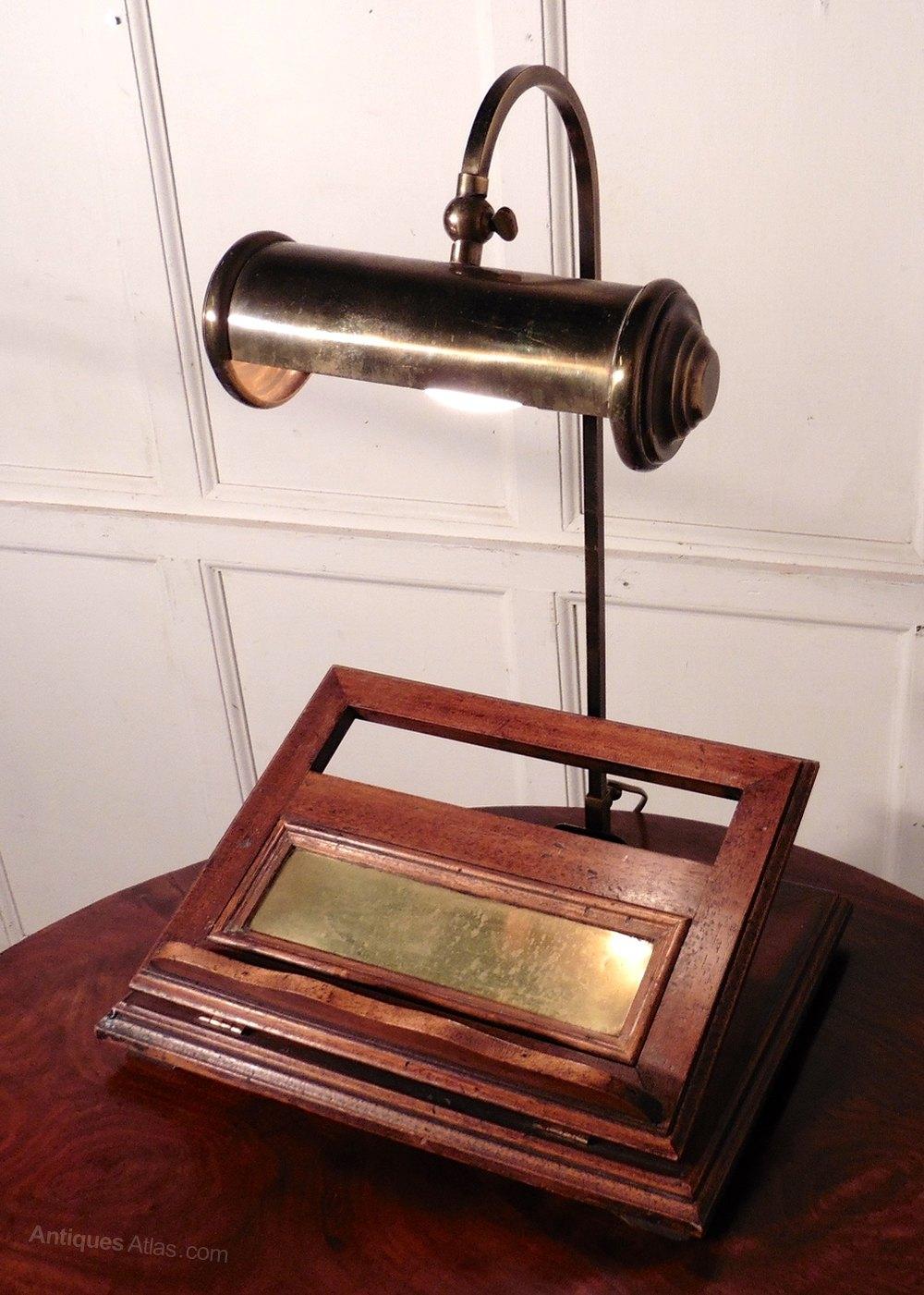 Antiques Atlas  Walnut Book Rest Reading Stand Lamp Menu