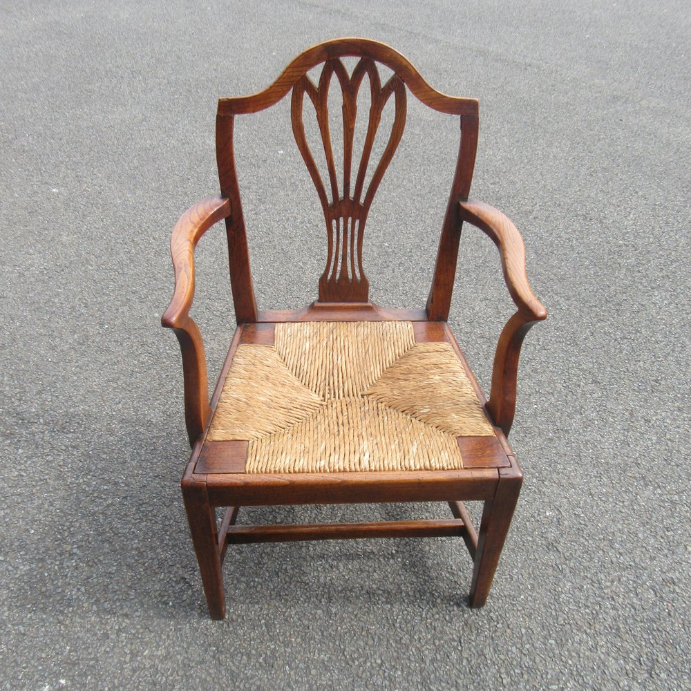 Antique Country Elm Armchair