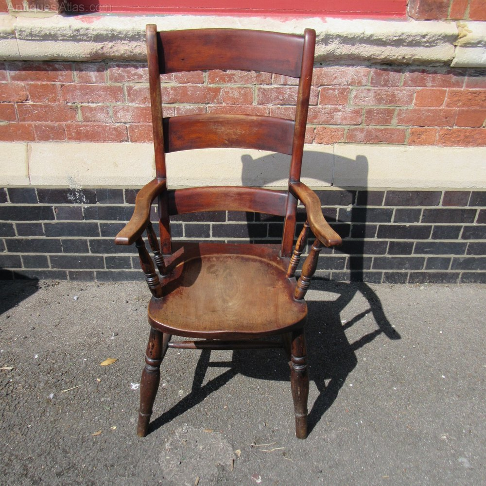 Antique Elm Country Armchair