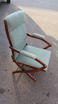 Antique Mahogany Folding Campaign Chair - Antiques Atlas