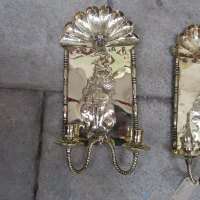 Antiques Atlas - Pair Of 19th Century Antique Brass Wall ...