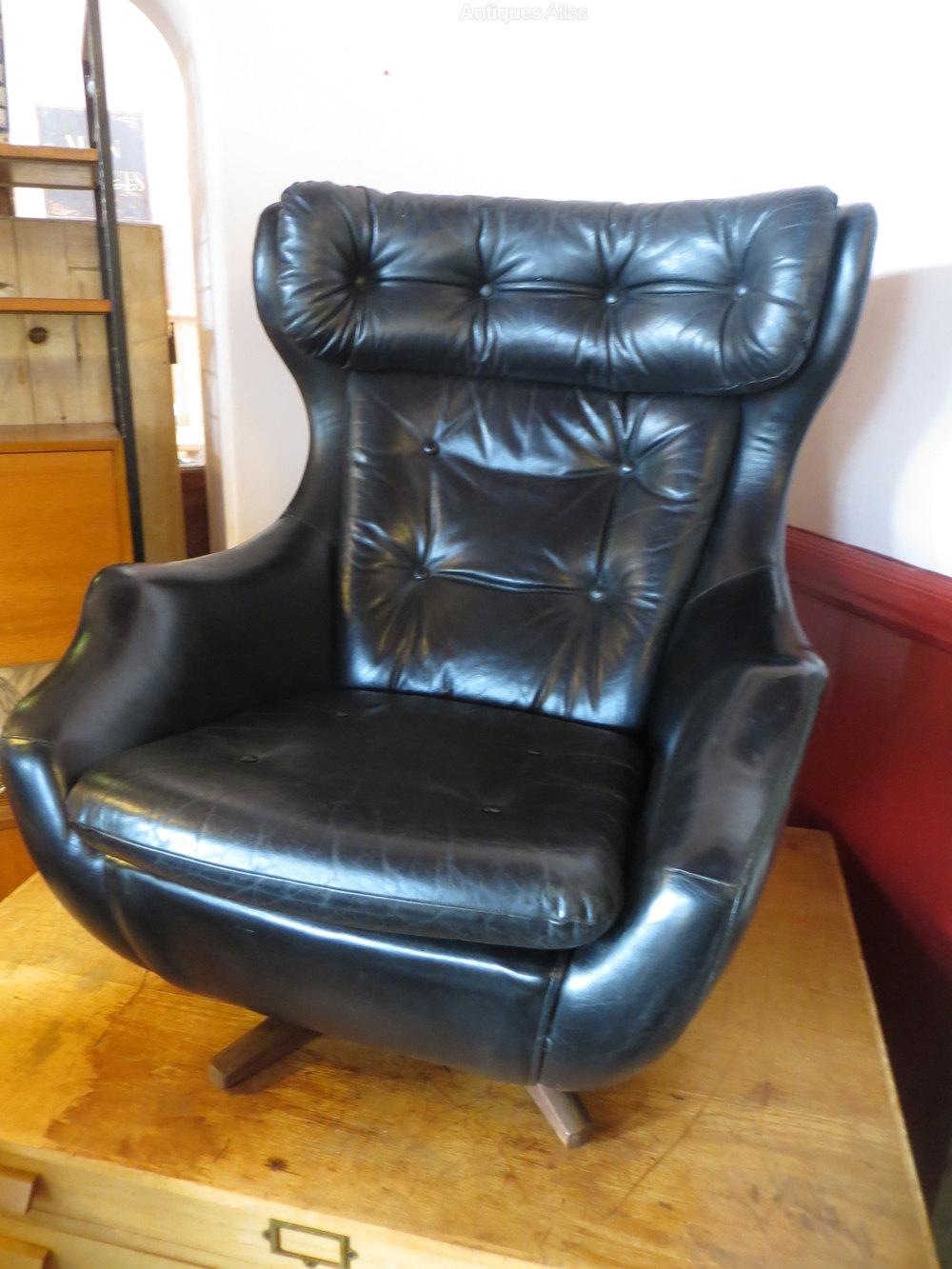 Antiques Atlas  Retro 1960s Leather Parker Knoll Swivel Chair
