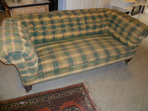 tartan chesterfield sofa really narrow table victorian antique antiques atlas chesterfields