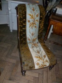 Victorian Tapestry Nursing Chair - Antiques Atlas