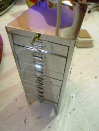 Antiques Atlas - Vintage Polished Steel Filing Cabinet
