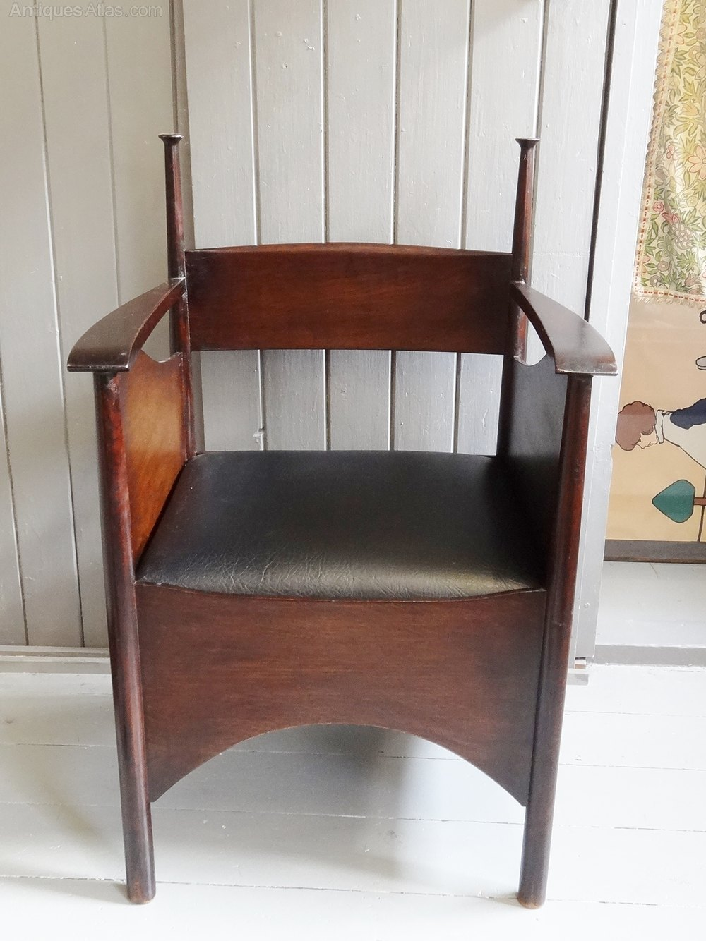 arts and crafts style chair folding desk with wheels antiques atlas - charles rennie mackintosh armchair
