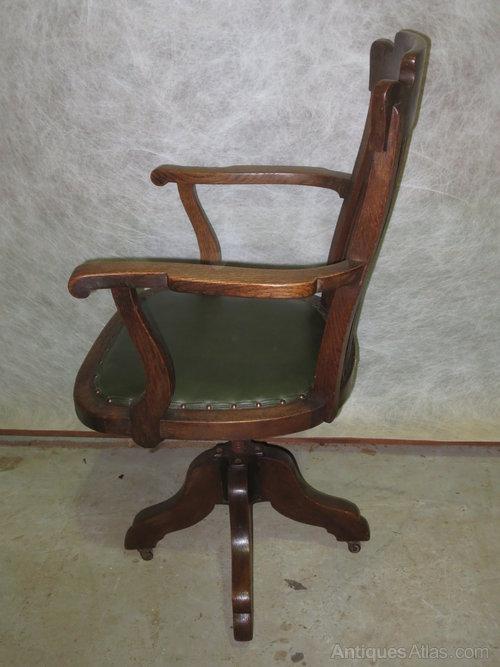 office chair castors cushion foam oak swivel - antiques atlas