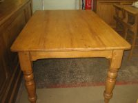 Victorian Pine Kitchen Table - Antiques Atlas