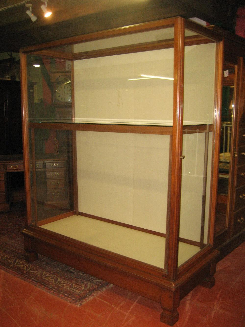 Waring  Gillow Museum Mahogany Display Cabinet  Antiques