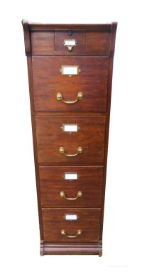 Late Victorian Oak File Cabinet Made In Paris - Antiques Atlas
