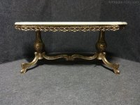 Brass And Onyx Coffee Table