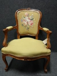 French Boudoir Chair - Antiques Atlas