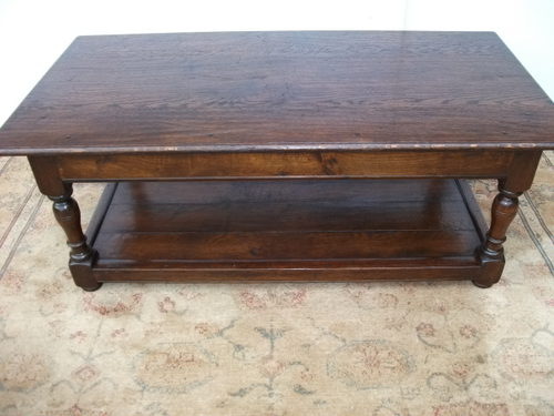 oak plank coffee table - antiques atlas