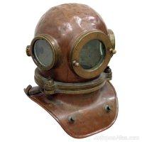 Antiques Atlas - Brass And Copper Divers Helmet