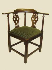 George II Mahogany Corner Chair - Antiques Atlas