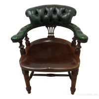 Late Victorian Mahogany Library Chair / Desk Chair ...