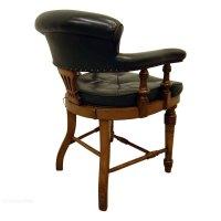 Oak Captain's Chair/Desk Chair - Antiques Atlas