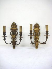Antiques Atlas - Pair Of Carved Wood Wall Sconces