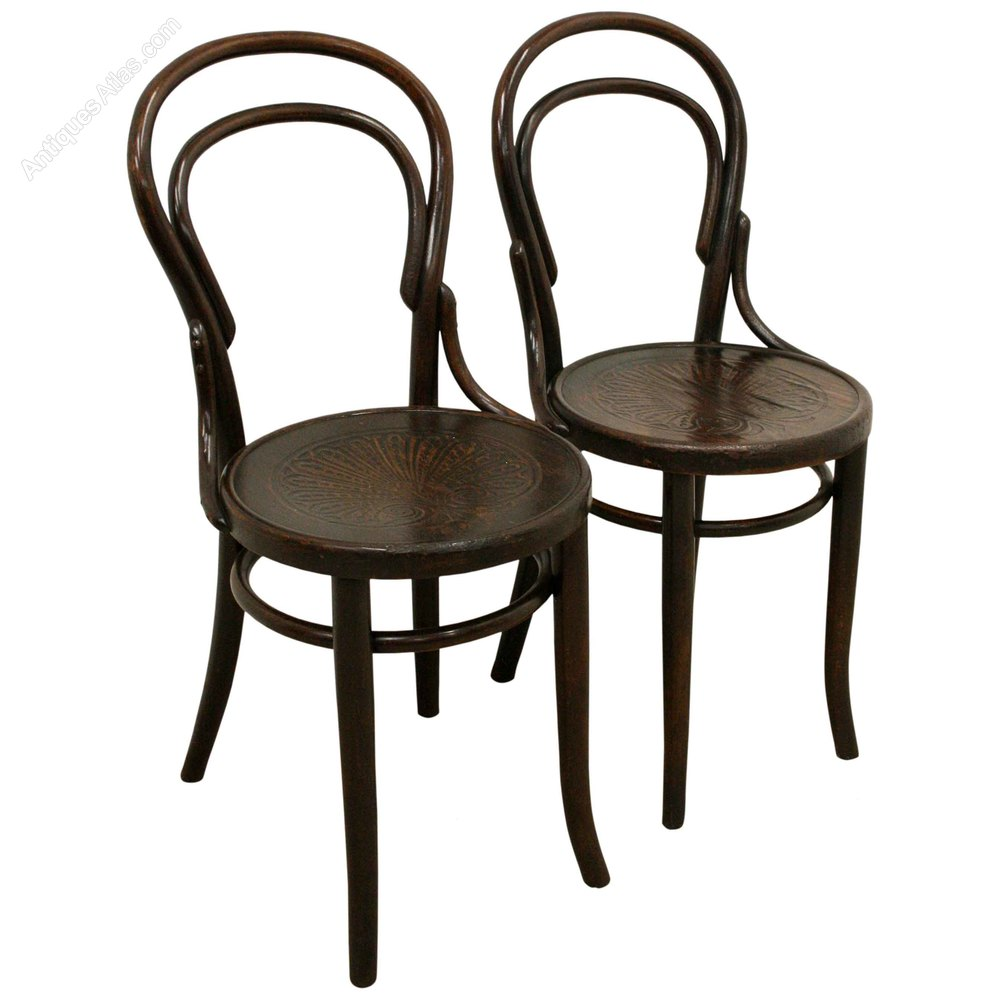 bentwood bistro chairs for sale high seat elderly uk pair of thonet - antiques atlas