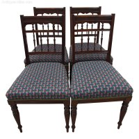 Set Of 4 Late Victorian Side Chairs - Antiques Atlas