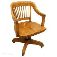 Solid Oak Revolving Desk Chair - Antiques Atlas
